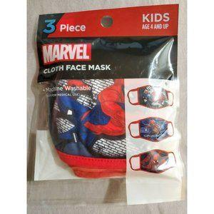 Berkshire Marvel Spider-Man Cloth Face Mask 3-Pk